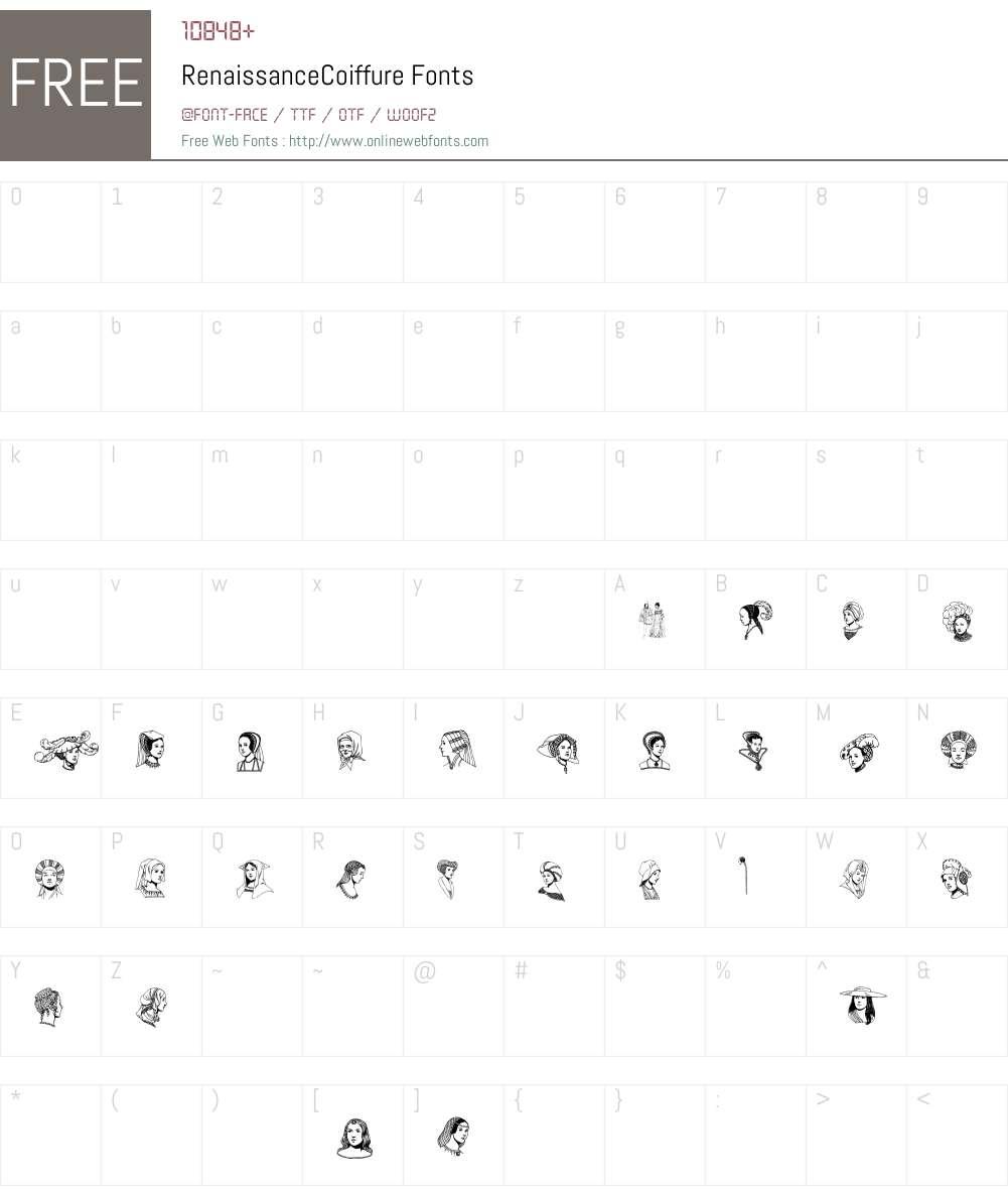 RenaissanceCoiffure Font Screenshots