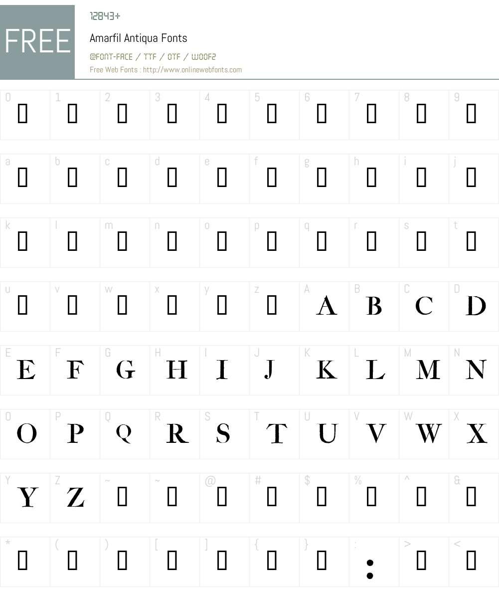 Amarfil Antiqua Font Screenshots