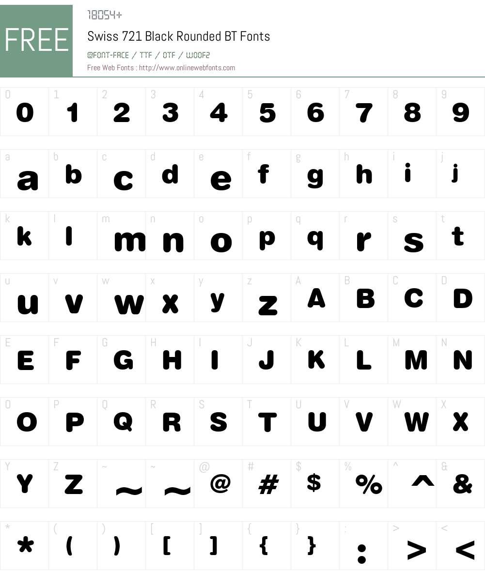 Swis721 BlkRnd BT Font Screenshots
