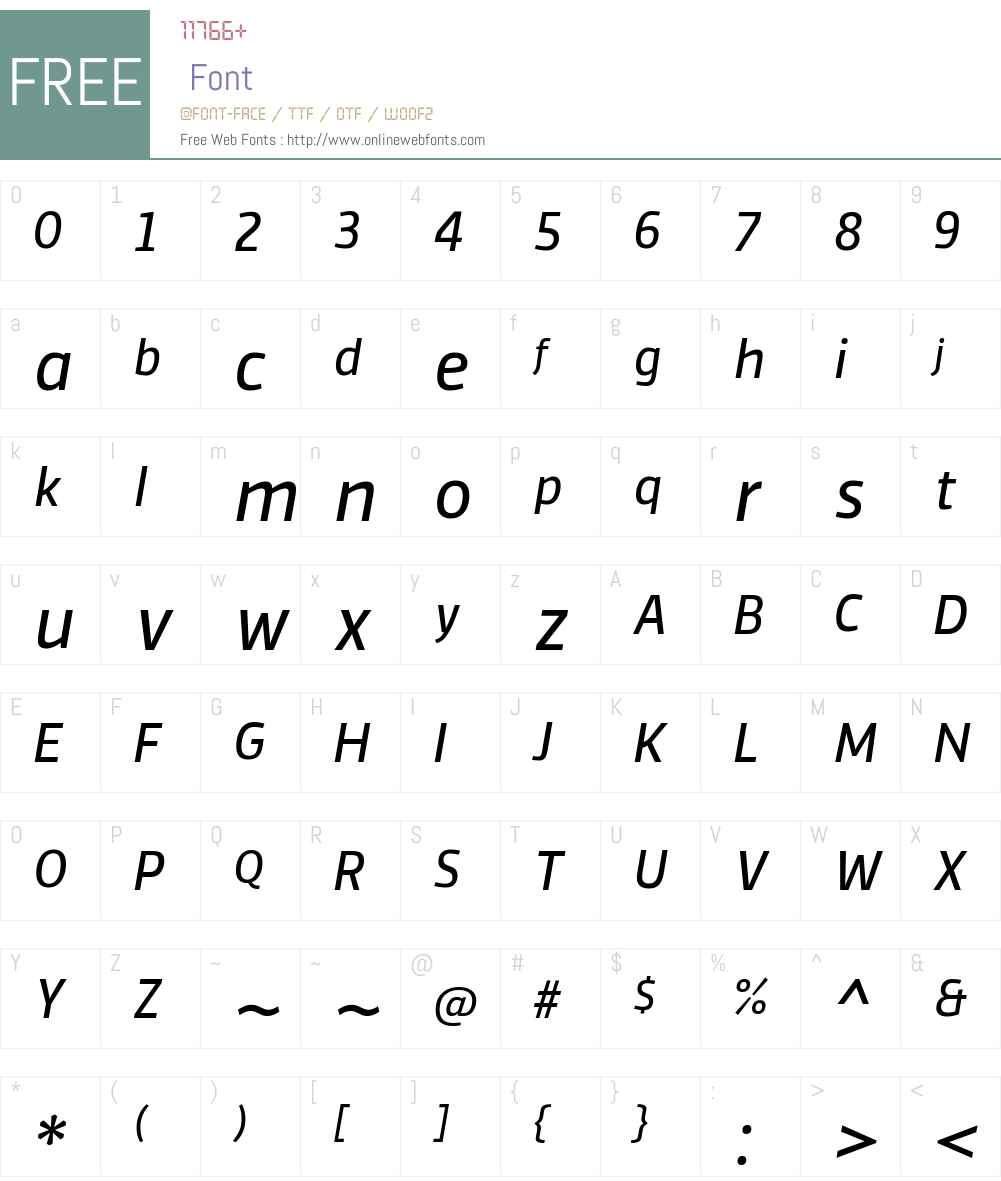 Vinkel Rg Font Screenshots