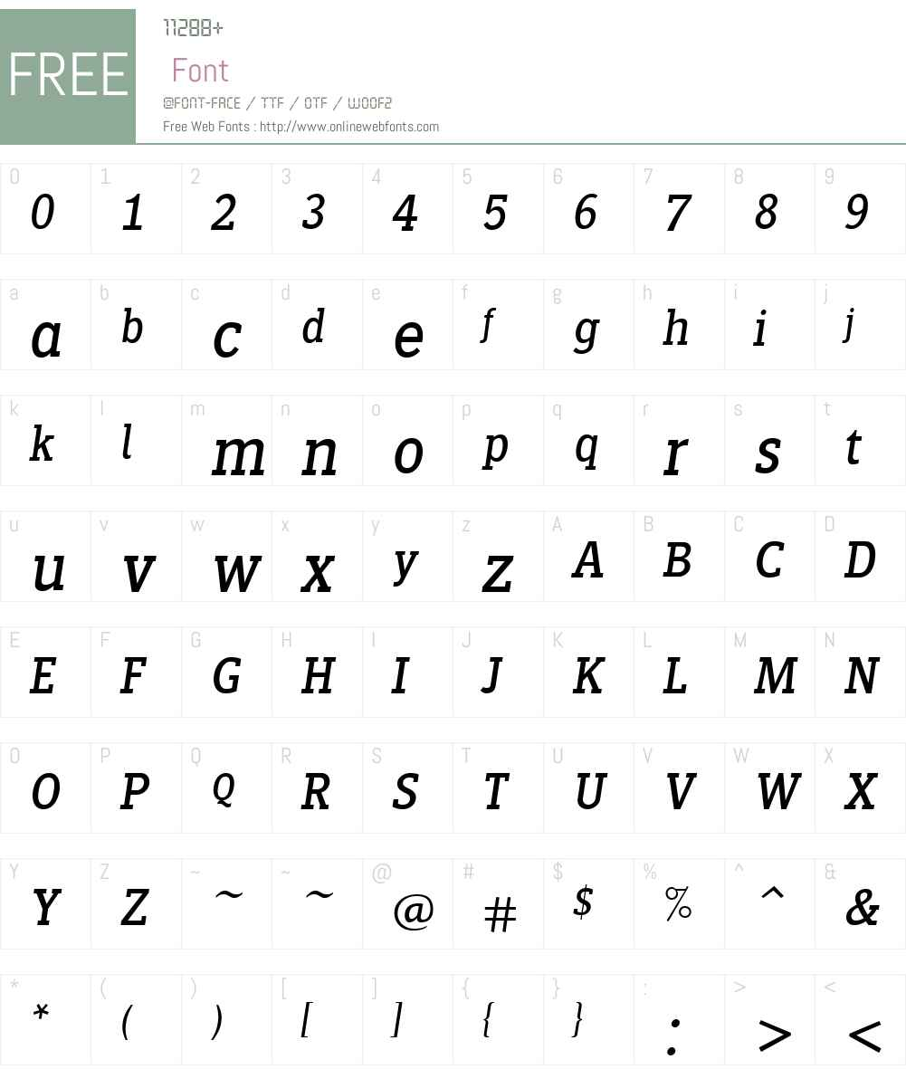 SiseriffLTW01-Italic Font Screenshots