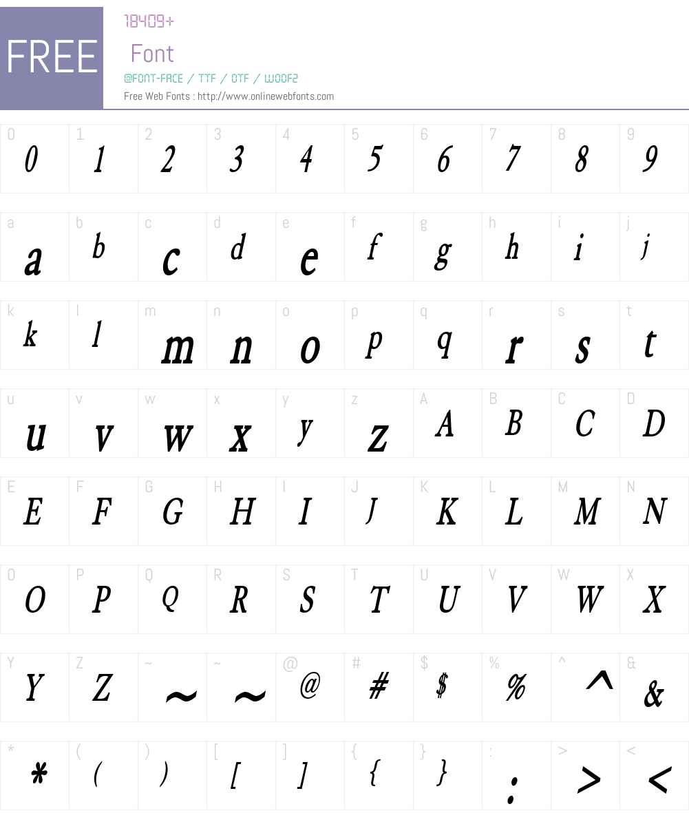 Elephant Thin Font Screenshots