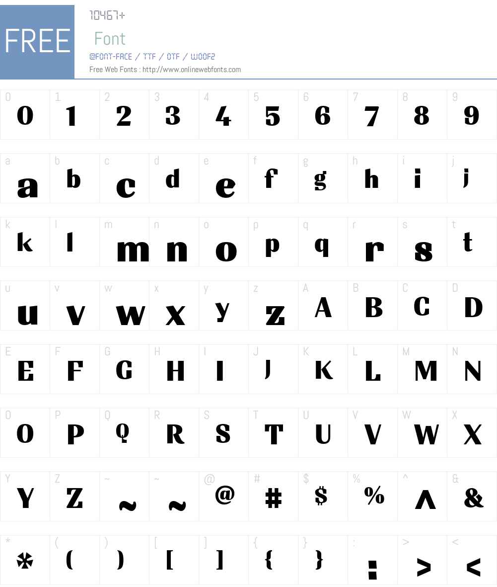 SintesiW01-ExtraBlack Font Screenshots