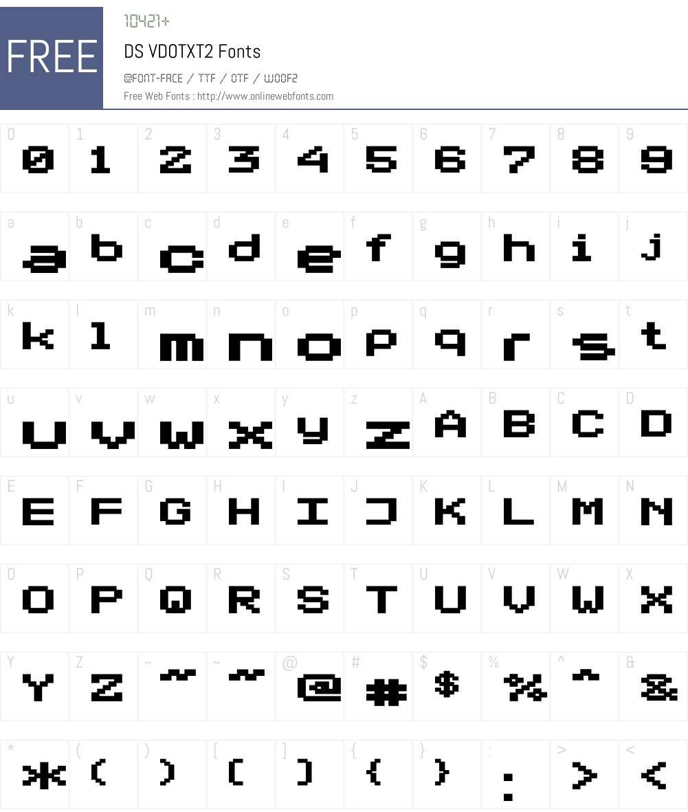 DS VDOTXT2 Font Screenshots