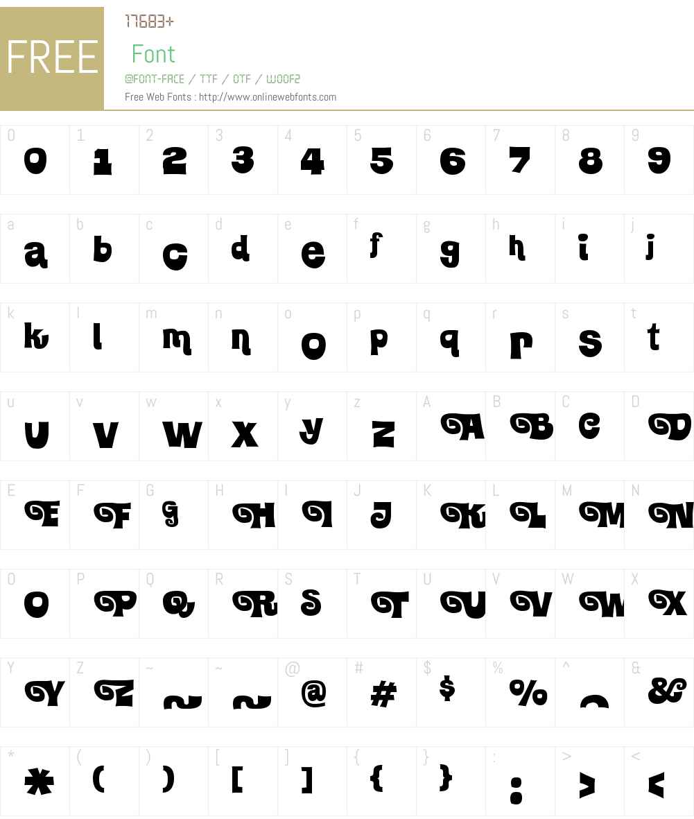 KlickclackW00-Swash Font Screenshots