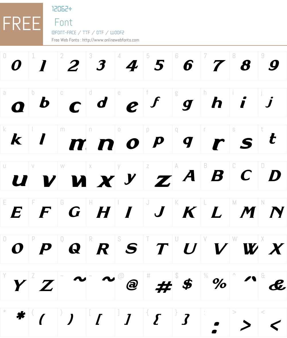 DoncasterW01-Italic Font Screenshots