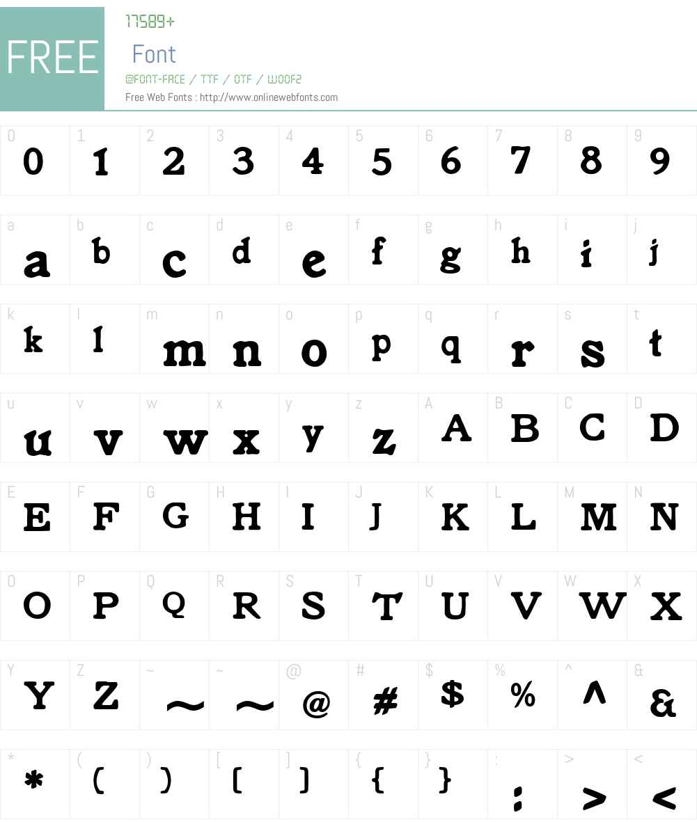 Knorke Font Screenshots