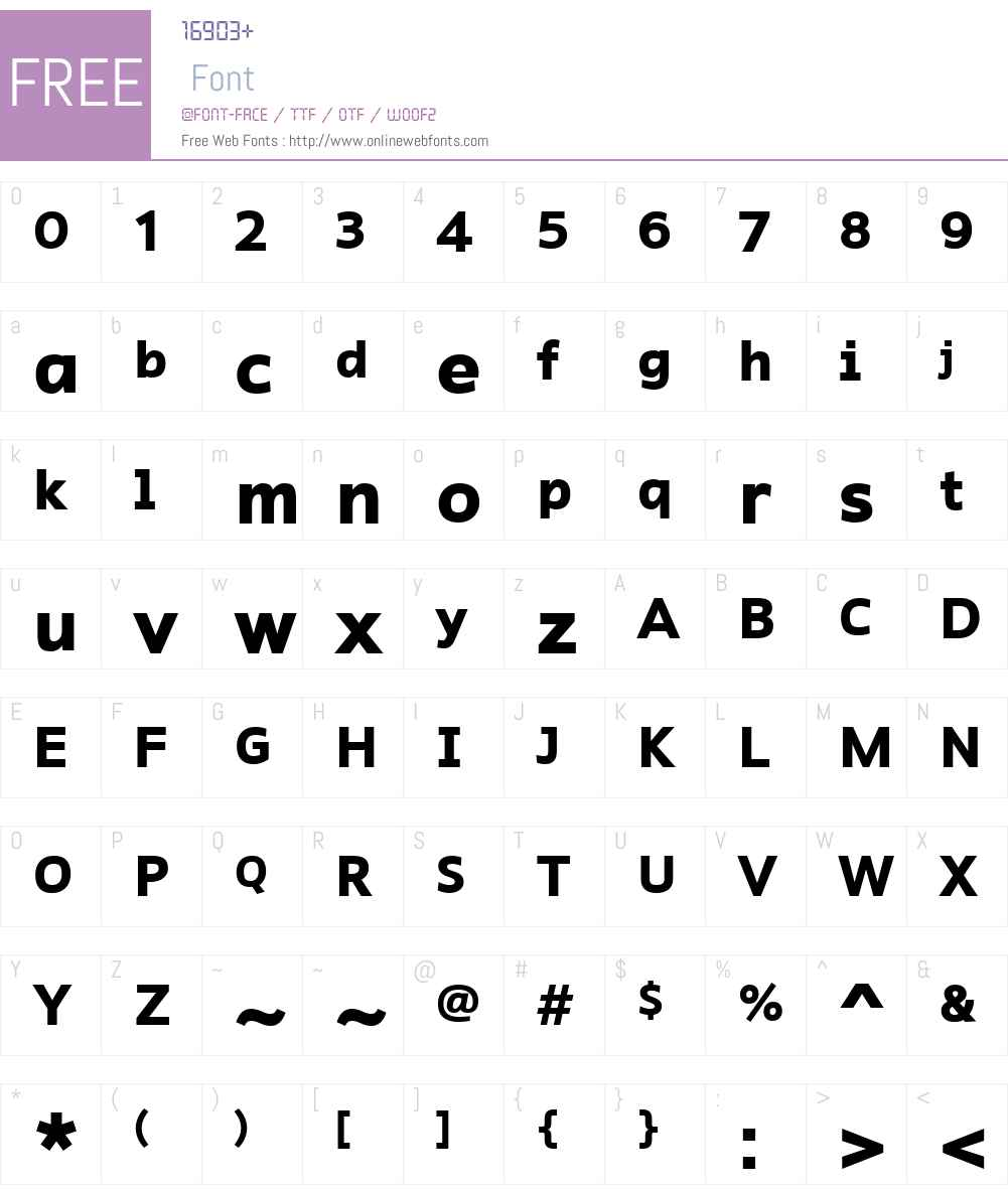 RescueW01-Bold Font Screenshots