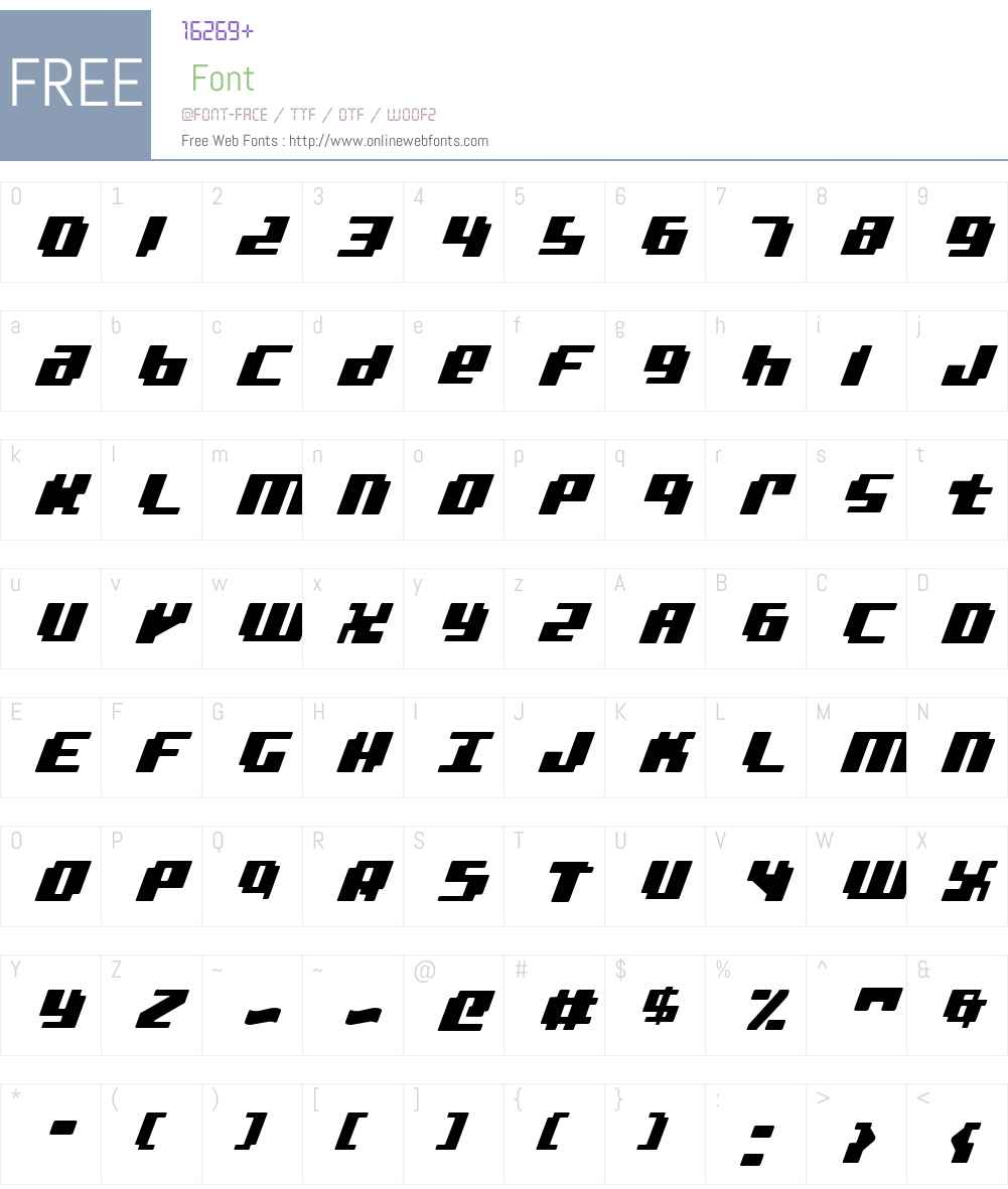 bad robot italic Font Screenshots