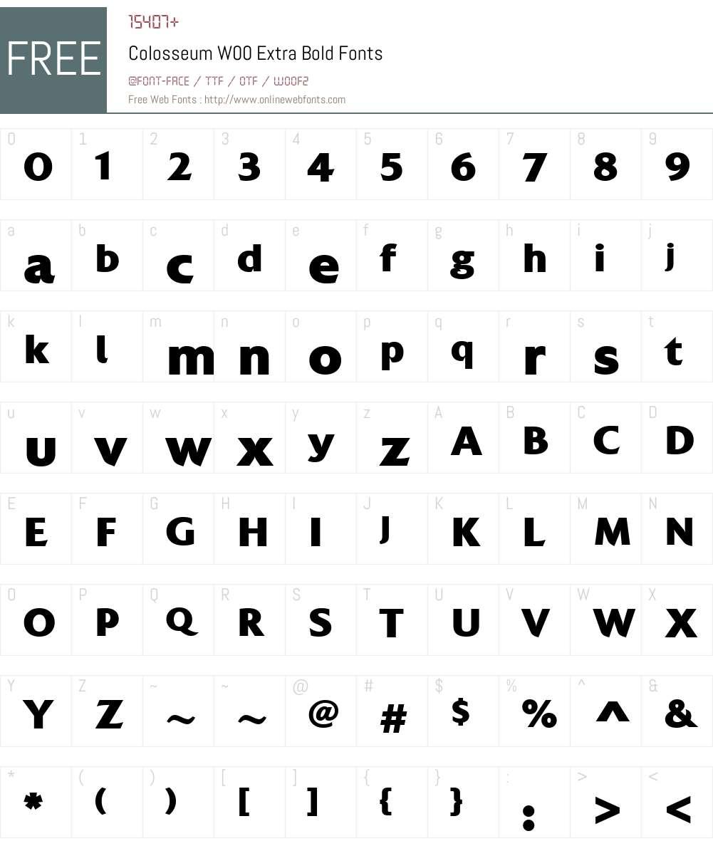 ColosseumW00-ExtraBold Font Screenshots
