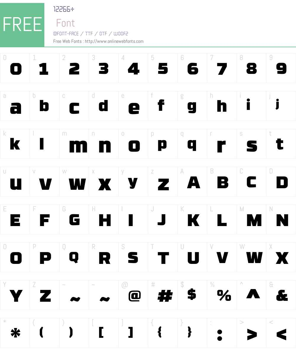 RBNo3.1W00-Ultra Font Screenshots