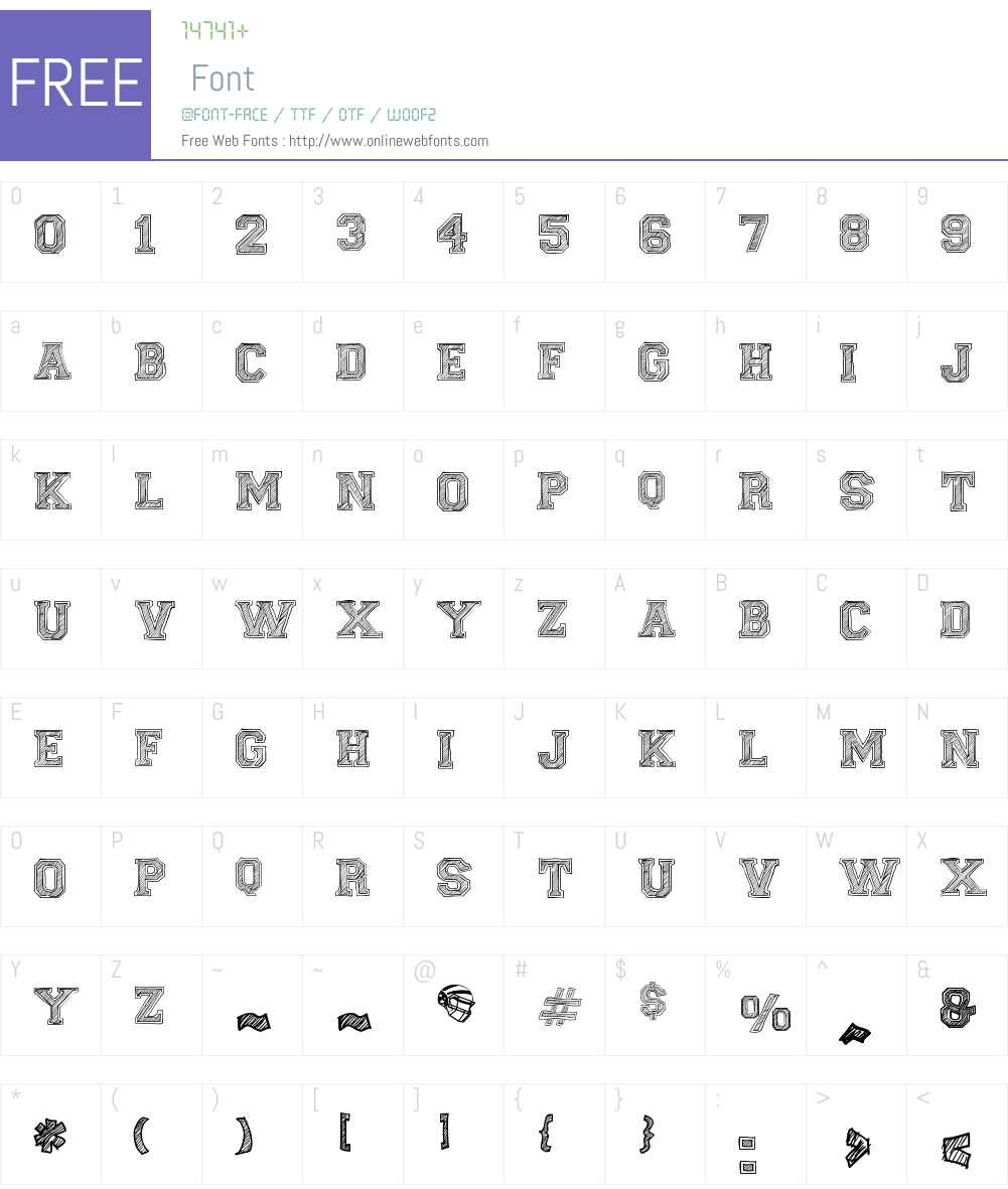 Fine College Font Screenshots