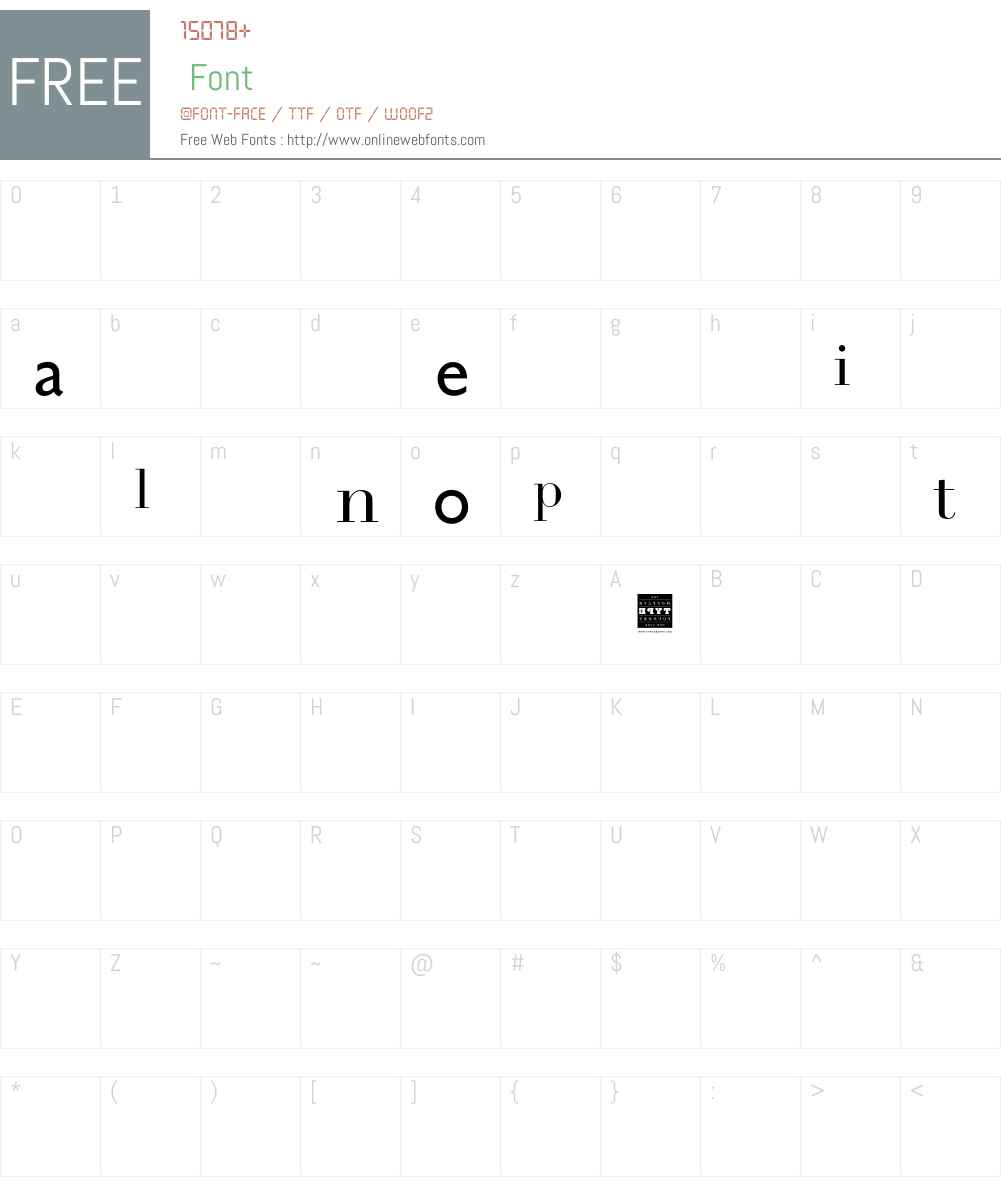 Appellation Font Screenshots