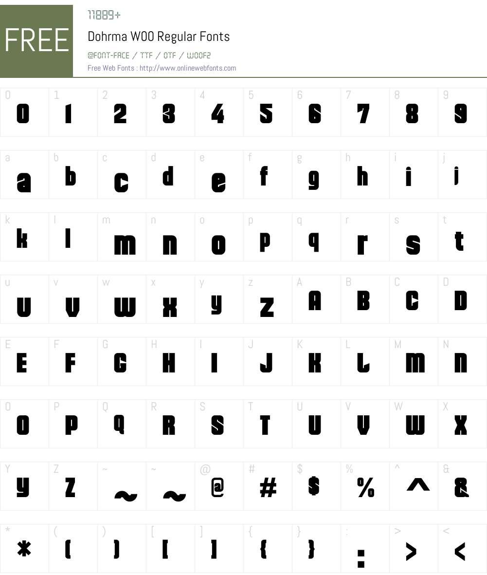 DohrmaW00-Regular Font Screenshots