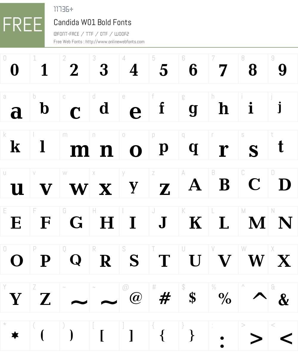 CandidaW01-Bold Font Screenshots