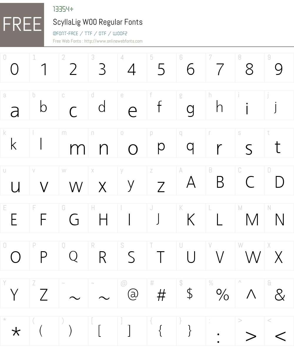 Scylla Font Screenshots