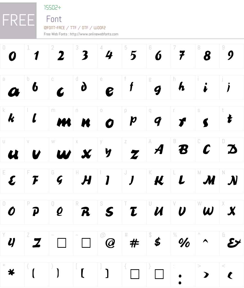 BlackNib Font Screenshots