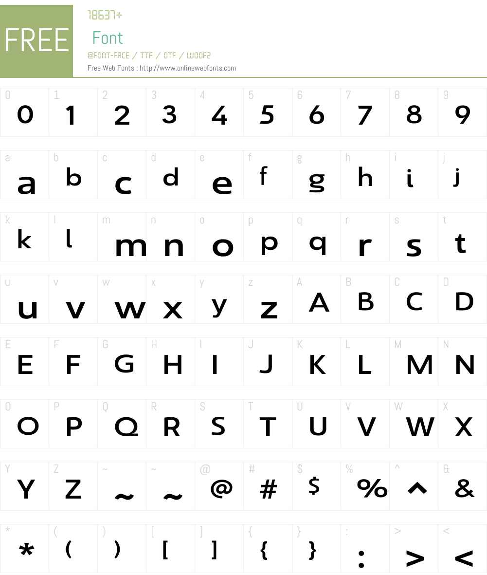 SavignyW01-MediumExt Font Screenshots