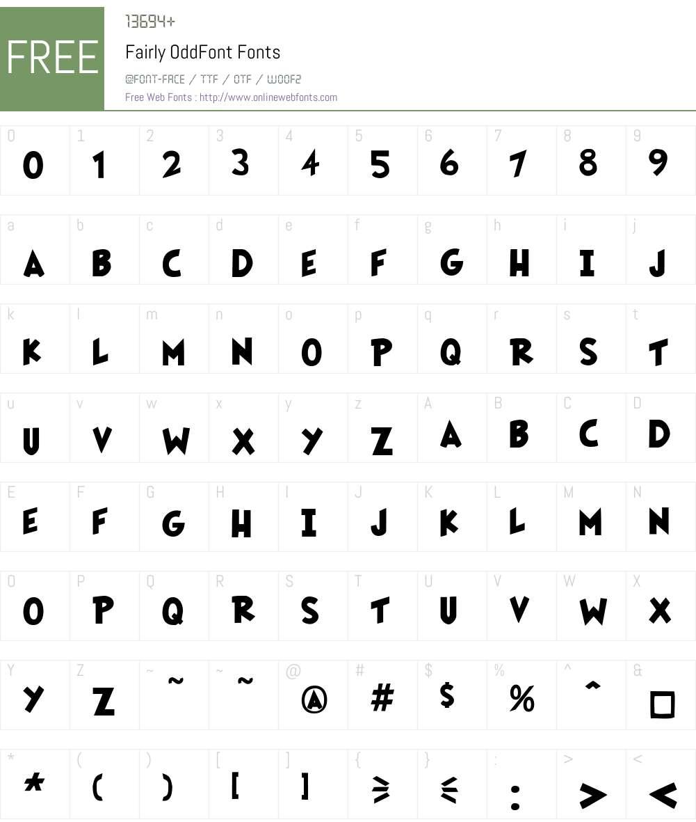 Fairly OddFont Font Screenshots