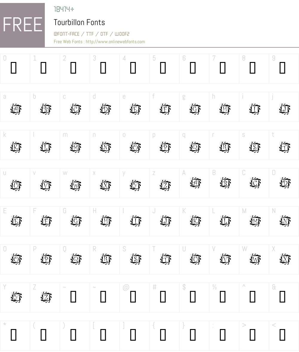 Tourbillon Font Screenshots