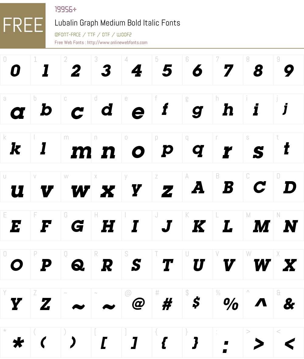 LubalinGraph-BoldOblique Font Screenshots