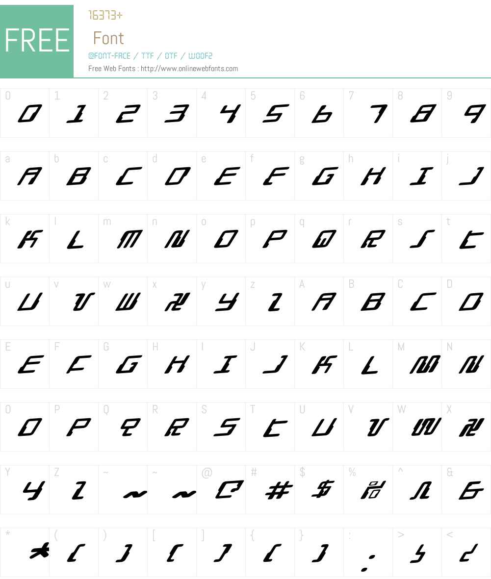 Droid Lover Rotalic Font Screenshots
