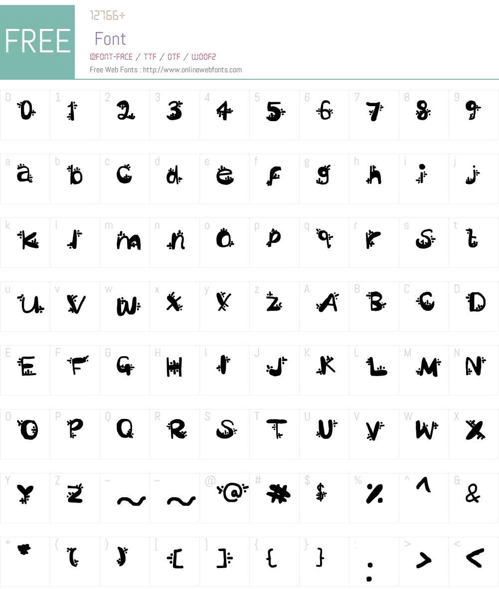 Sezza Font Screenshots