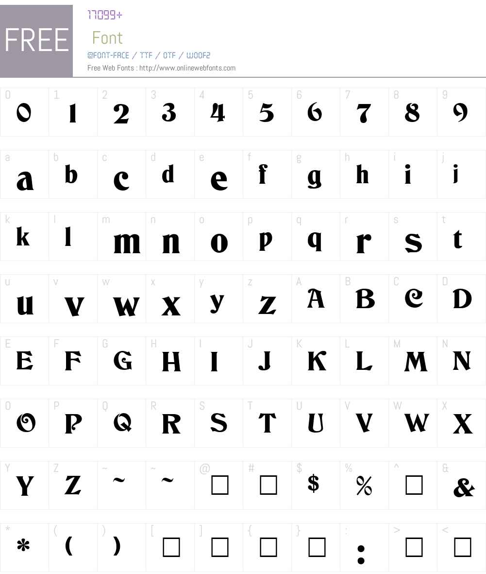 Deneane Font Screenshots