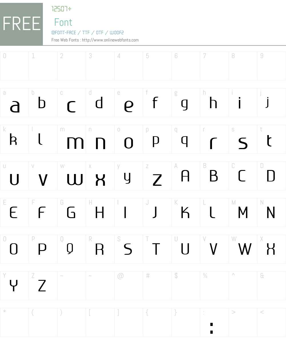 Ageone Font Screenshots