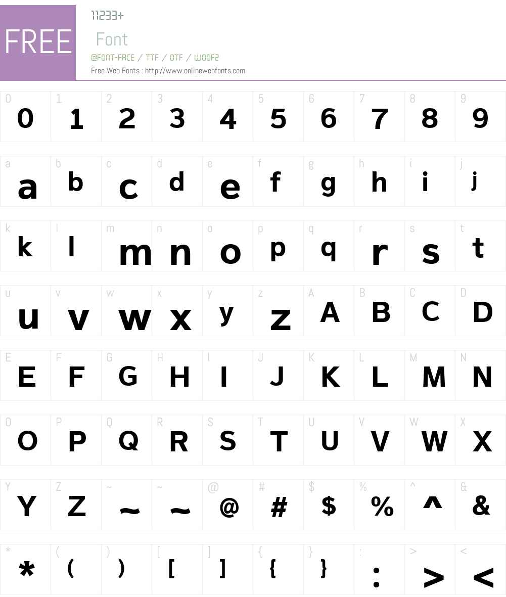MagnumSansW01-Bold Font Screenshots