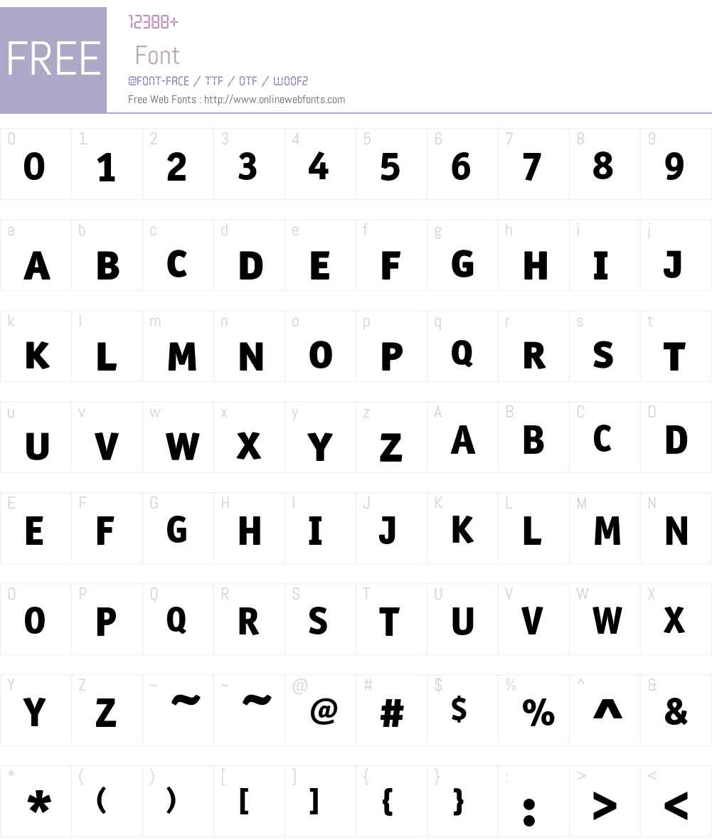 ITCOfficinaSansW10-SCXBd Font Screenshots