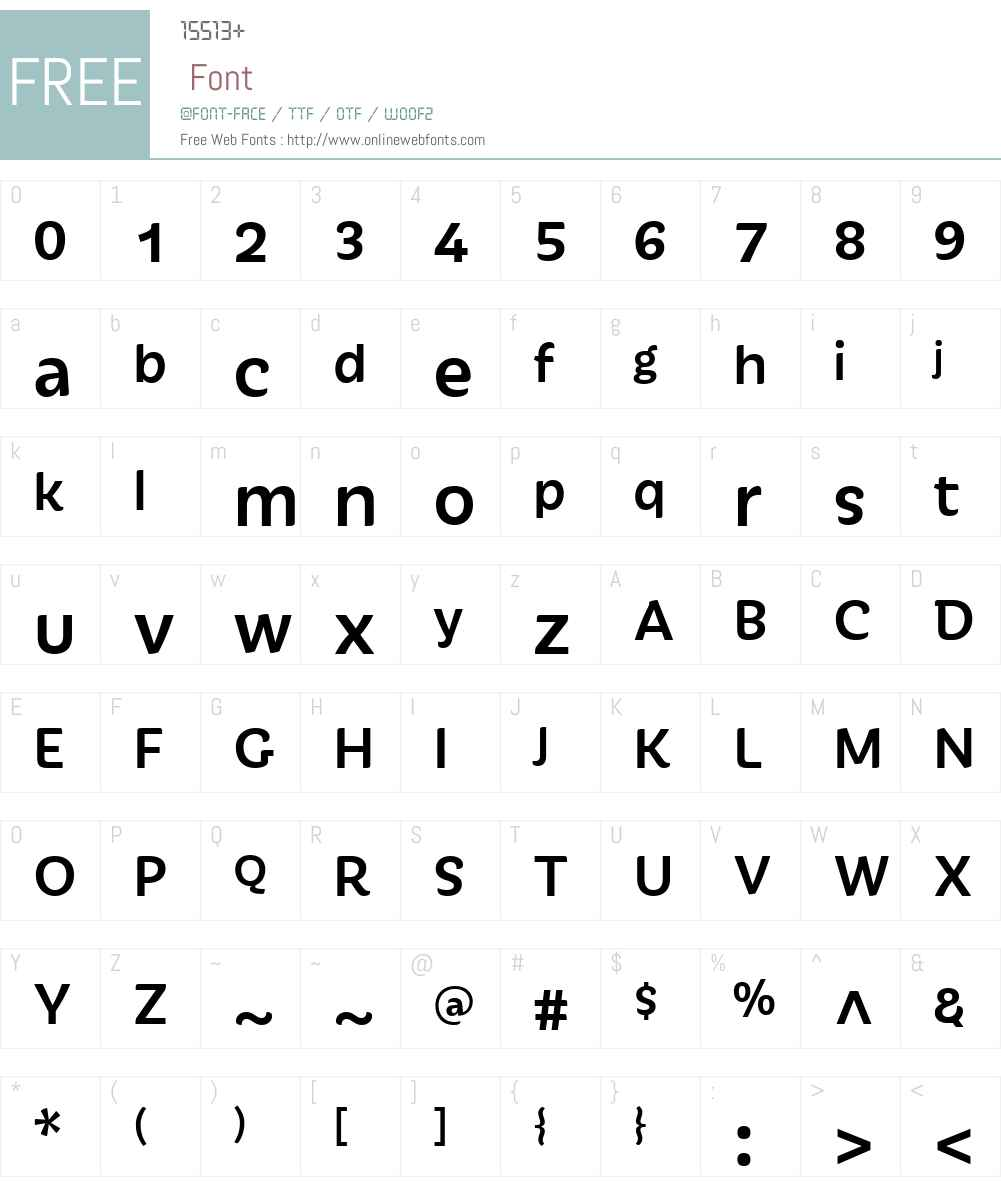 Iskra Font Screenshots