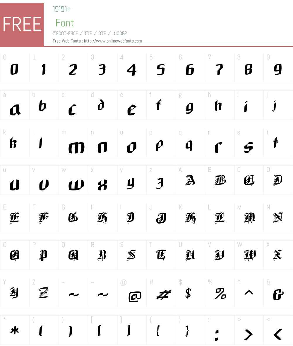 NeuGothic Font Screenshots