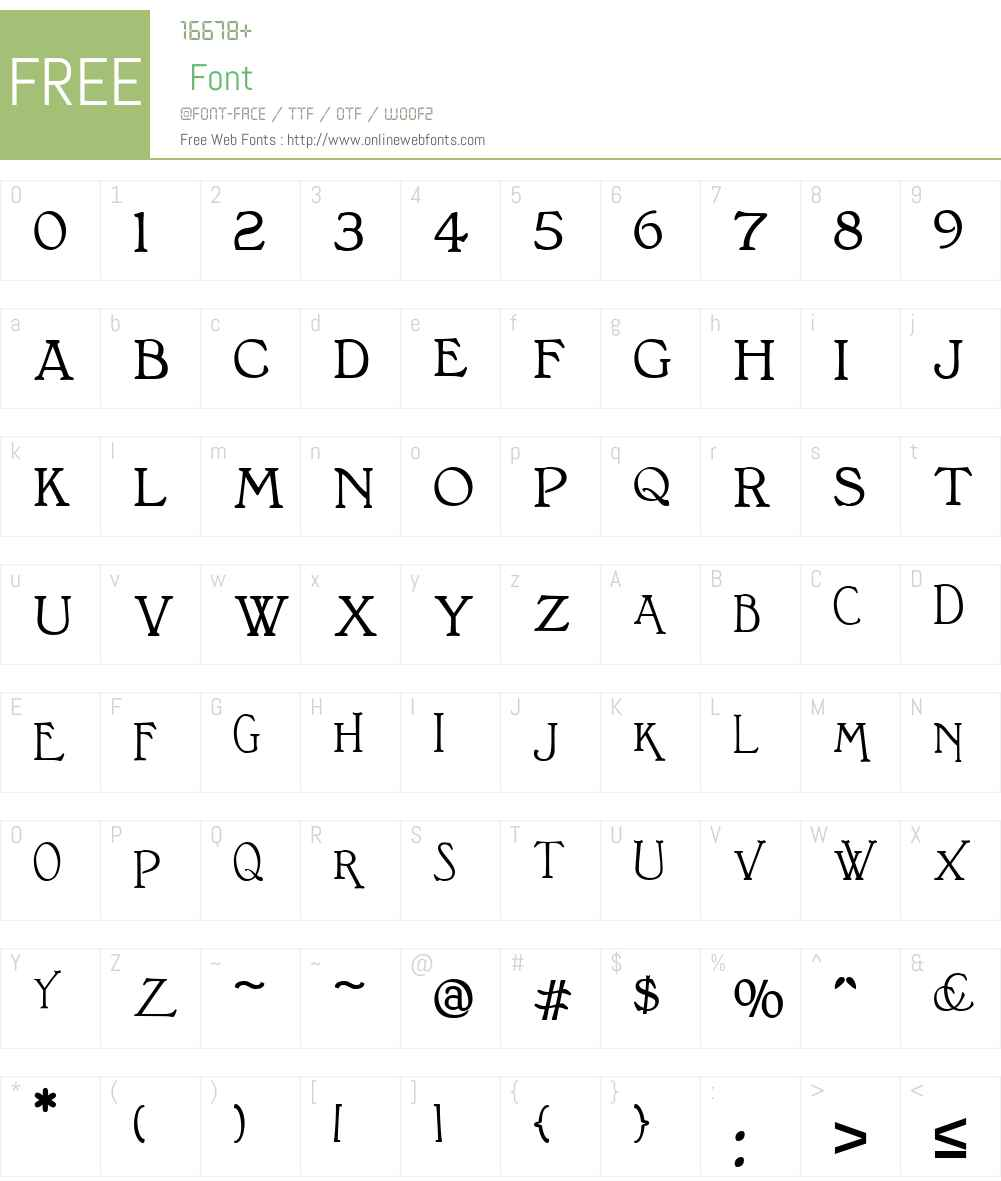 BonningtonW01-Bold Font Screenshots