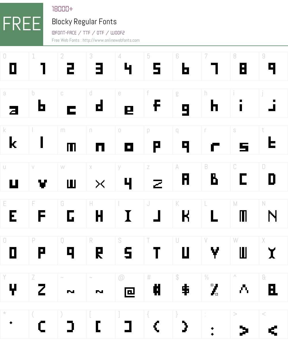 Blocky Font Screenshots