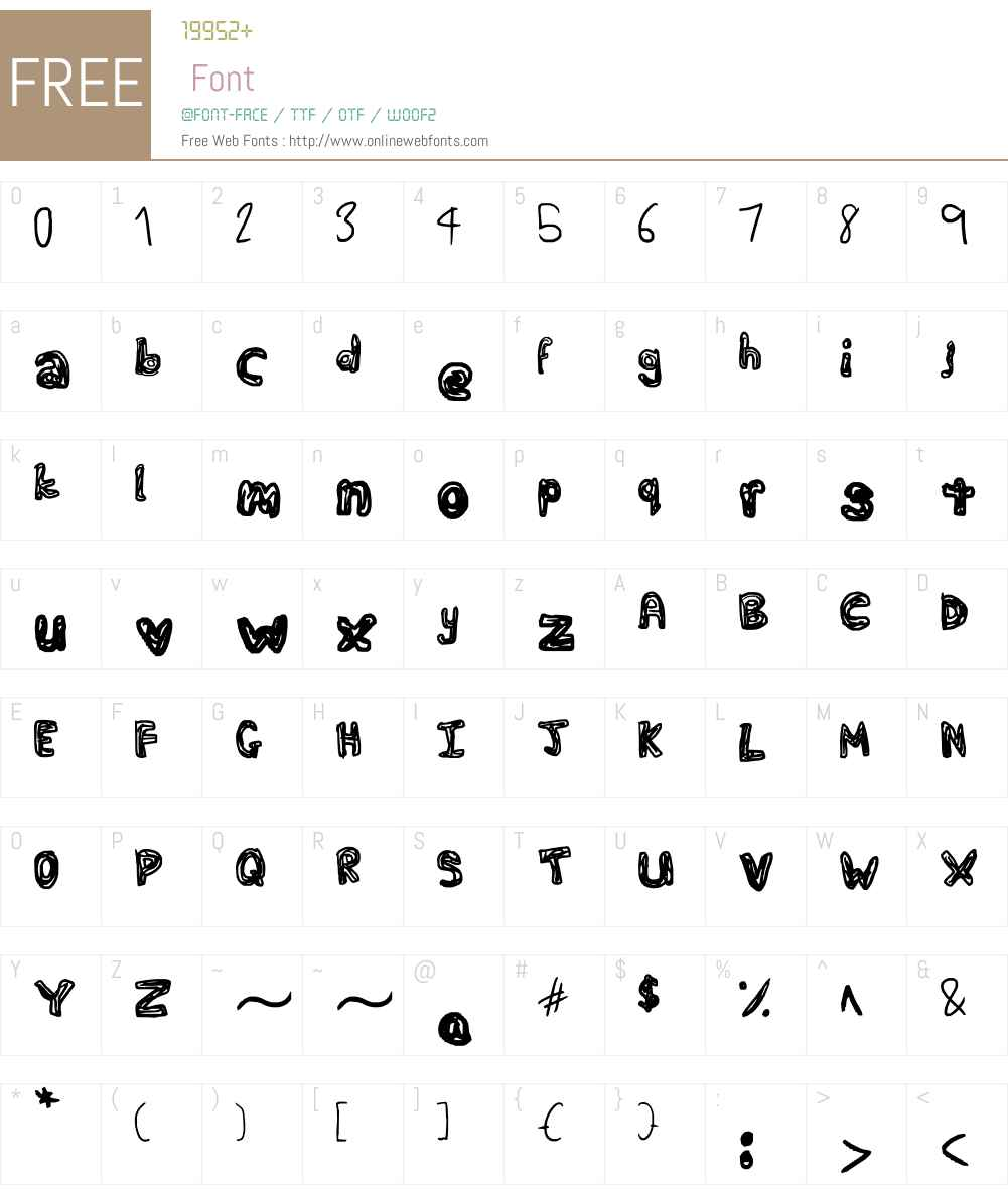Fat Squiggles Font Screenshots