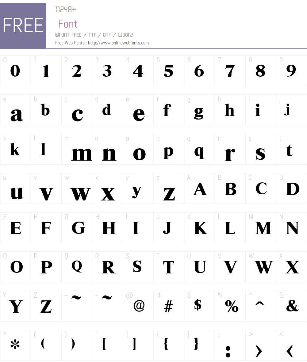 Riccione-Bold Font Screenshots