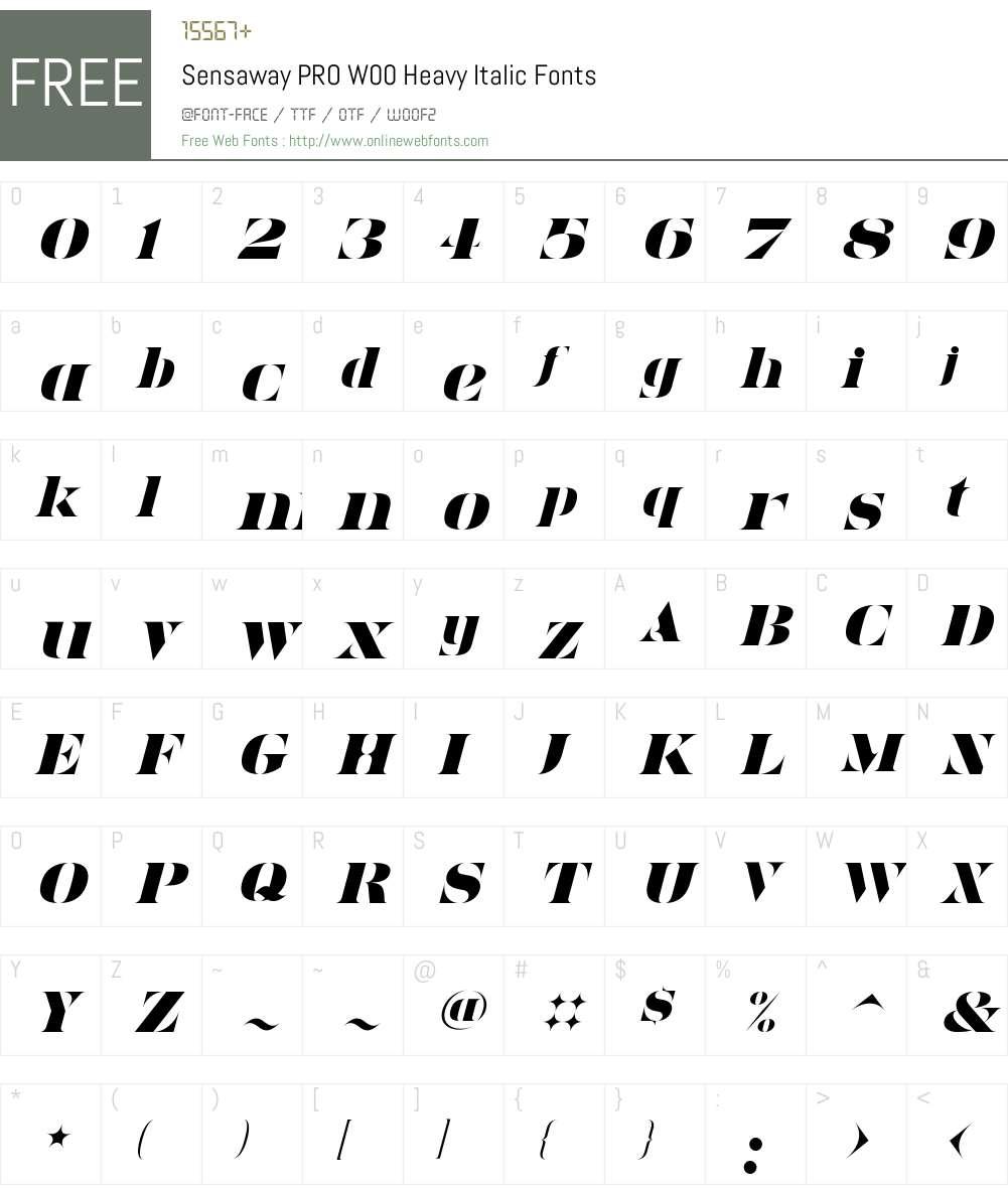 Sensaway Font Screenshots