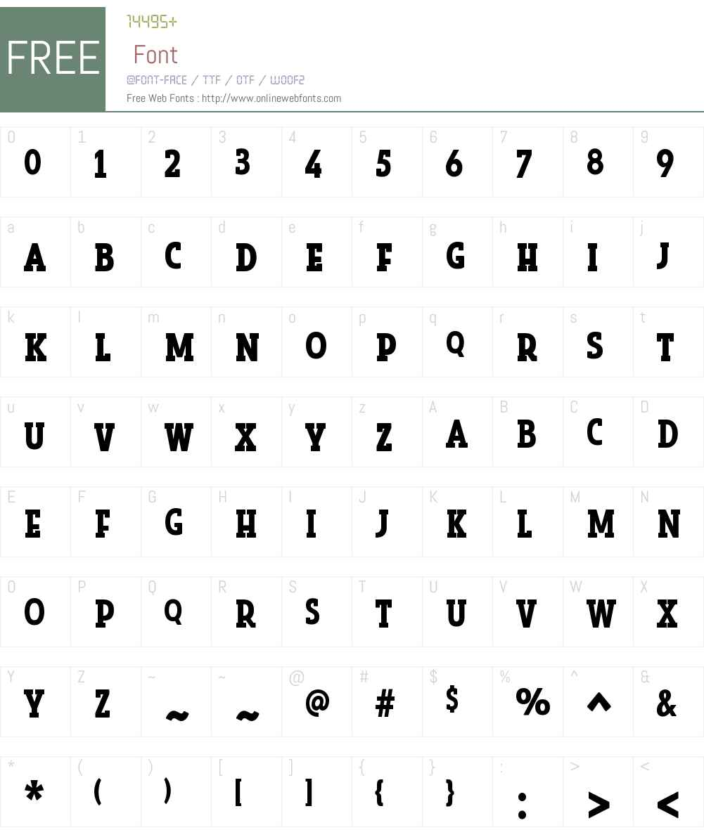LookSerifW00-Bold Font Screenshots
