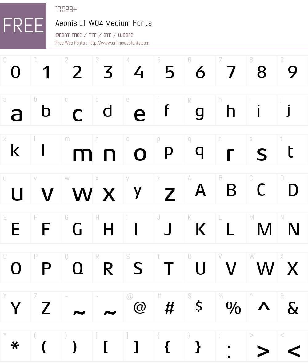 AeonisLTW04-Medium Font Screenshots