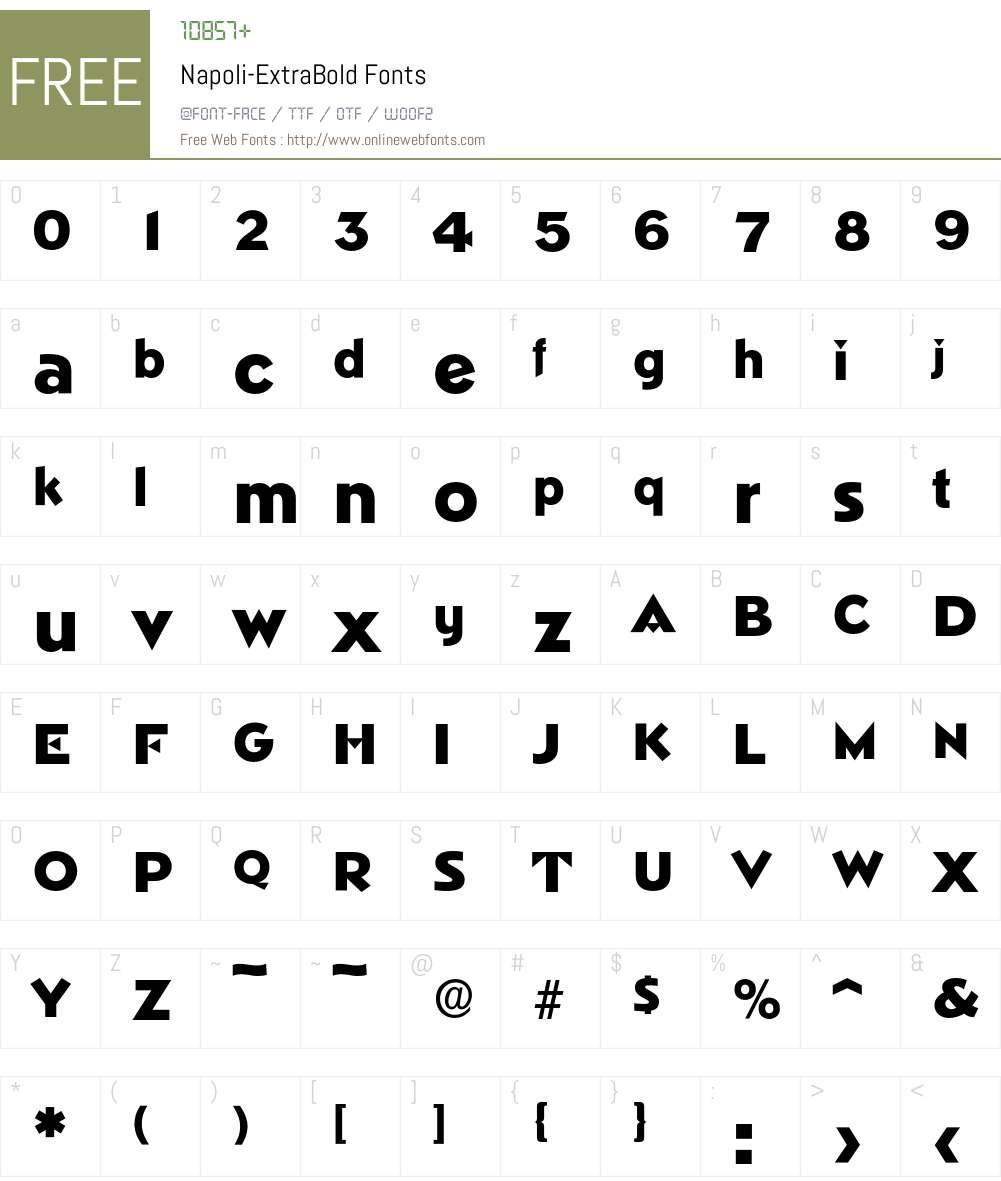 Napoli-ExtraBold Font Screenshots