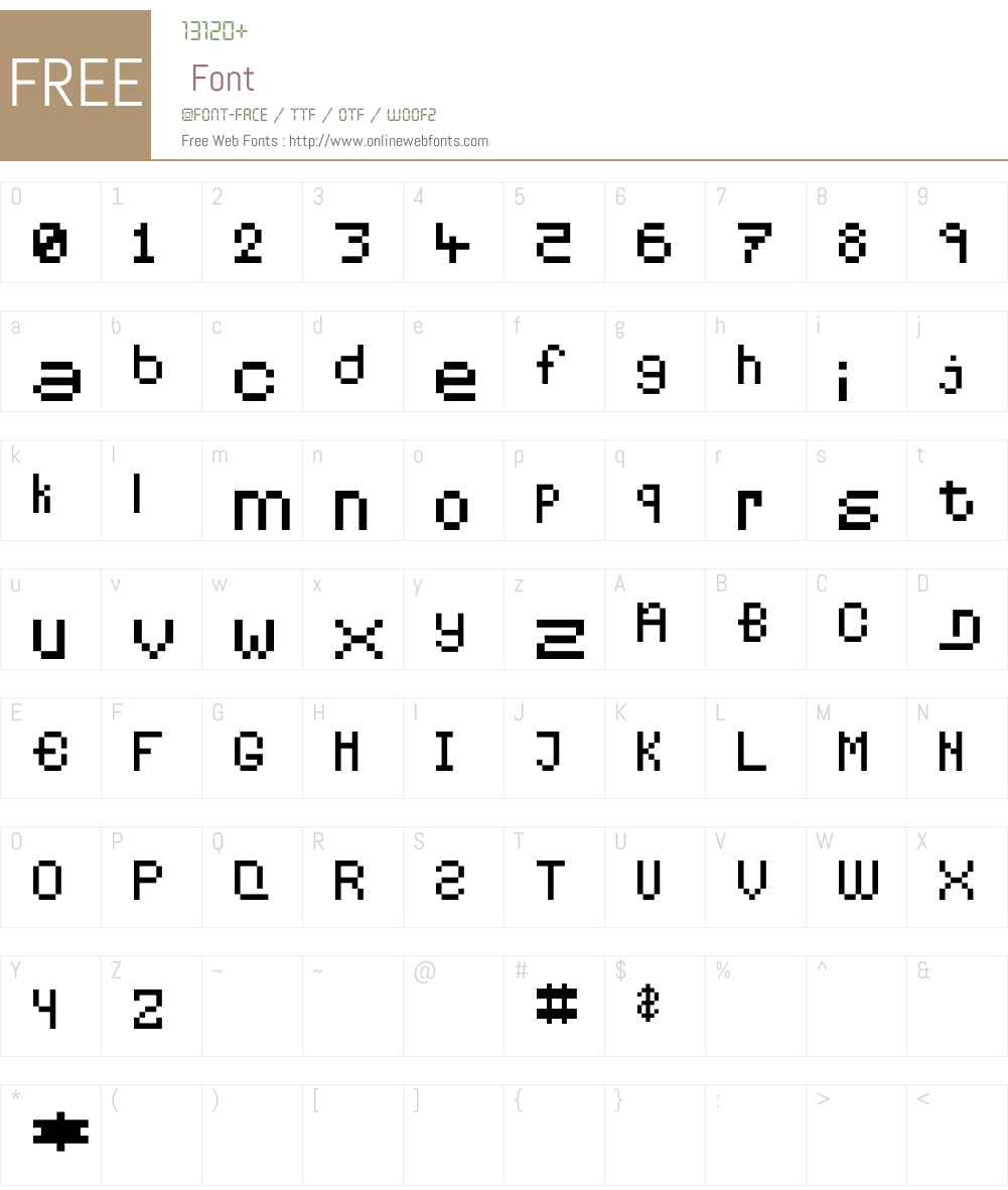 Pixelates Font Screenshots