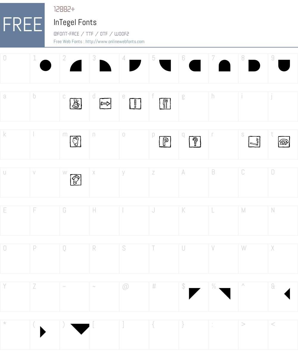 InTegel Font Screenshots