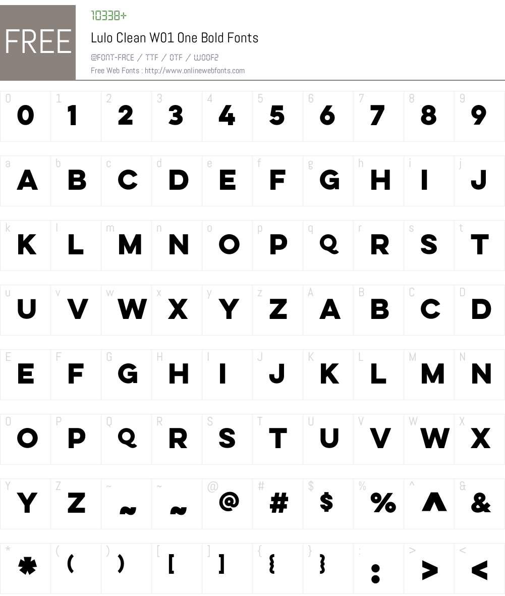 LuloCleanW01-OneBold Font Screenshots