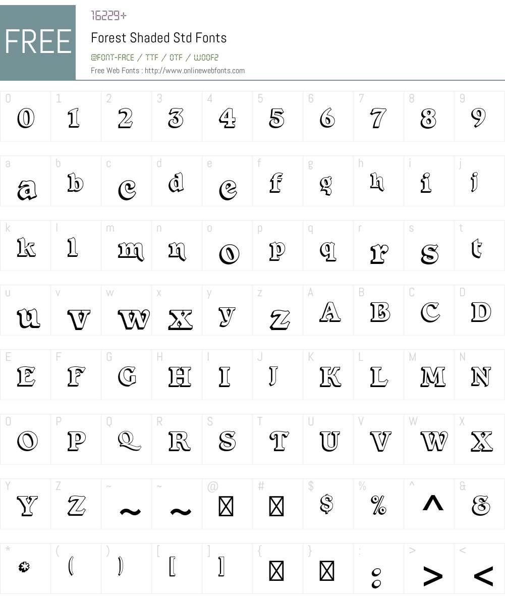 Forest Shaded Std Font Screenshots