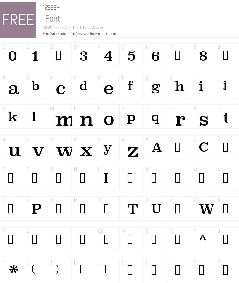 SuperclarendonRg-Regular Font Screenshots