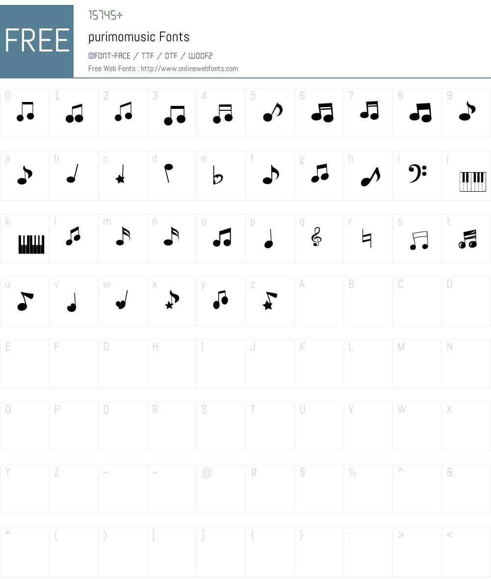 purimomusic Font Screenshots