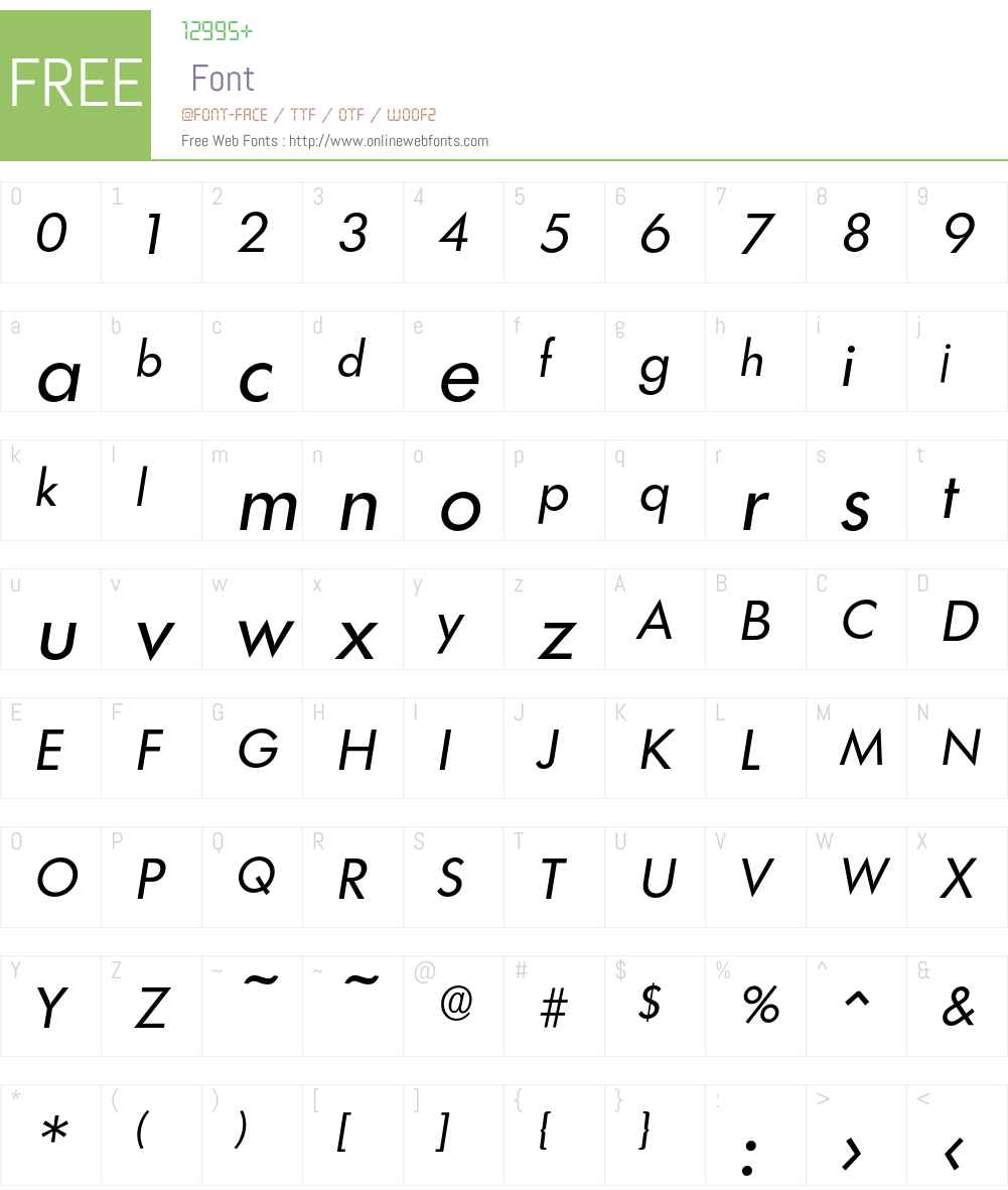 Limerick-RegularIta Font Screenshots