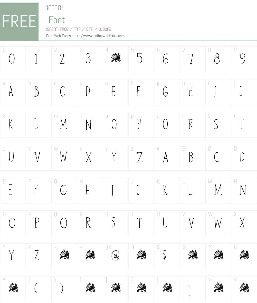 DK John Brown Font Screenshots