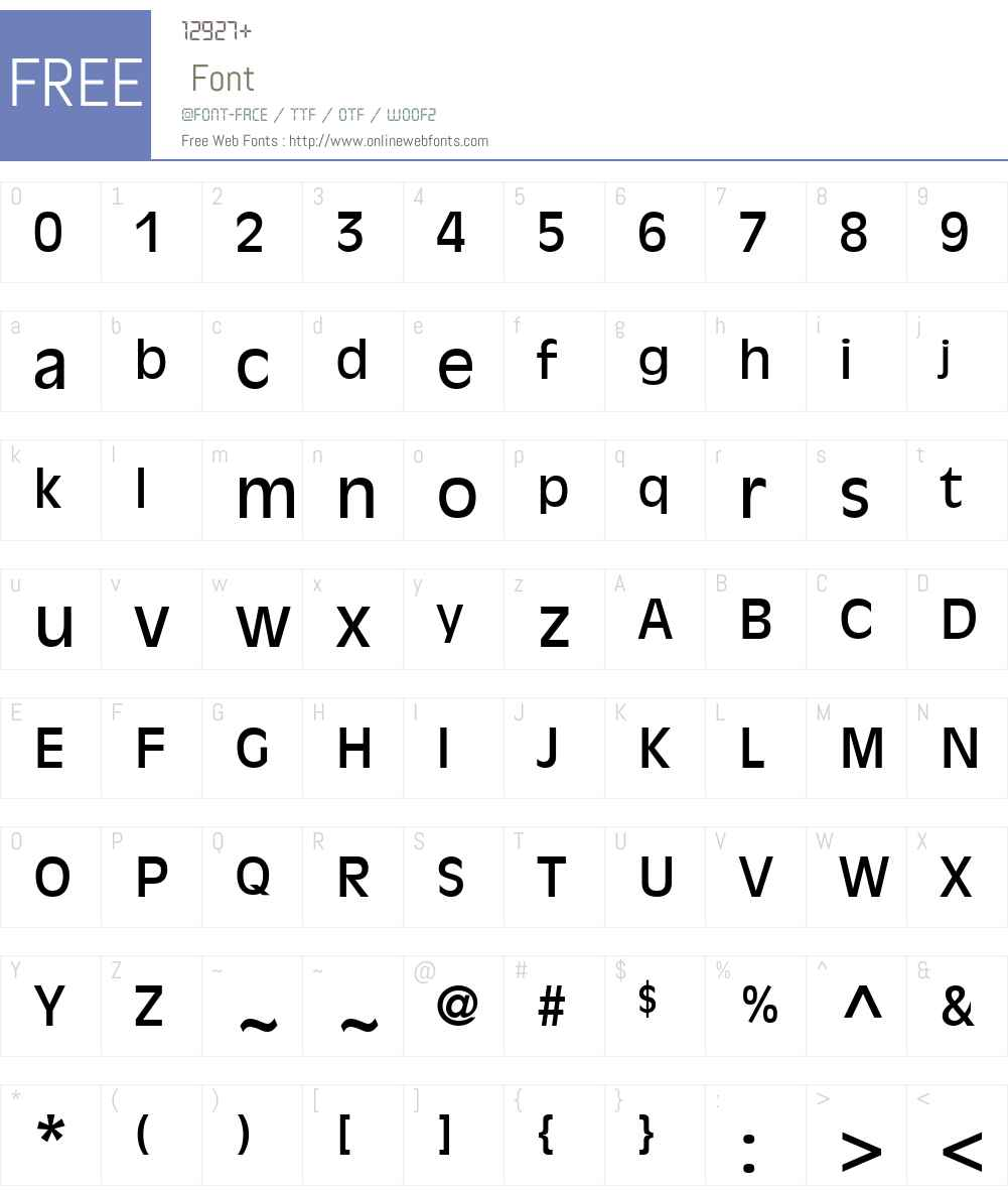 Decade SSi Font Screenshots